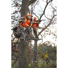 2 Man Ladder Tree Stand For Deer Hunting Bow  18' Deluxe Buddy Platform
