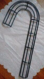"Candy Cane Wreath Frame Base Metal Form 20"""