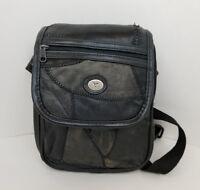 "Taurus Collection Black Fanny Pack Side Bag Adjustable Waist Strap 9""X8"""