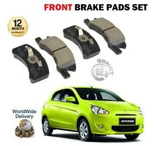 FOR MITSUBISHI MIRAGE 1.0 1.2 MIVEC 2012--> NEW FRONT BRAKE DISC PADS SET