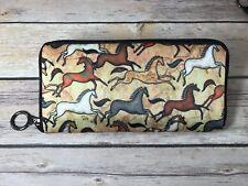 Horses Mustang Sunset Ladies Wallet by Dan Morris