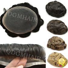 Full French Lace Mens Toupee Hairpiece All Lace Hair Replacement System Natural