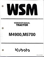 Kubota M4900 M5700 Tractor Workshop Service Repair Manual 9Y011-18106