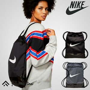 Nike Brasilia Gymsac Gym Bag Sack Sports Drawcord Shoulder Straps Zip Pocket