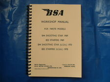 BSA B25 & B44SS NEW WORKSHOP MANUAL FOR 1969 & 1970