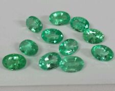 Loose. Gemstones colombian Emeralds . 11pcs  4.87cts,  6x4mm ovals maching.