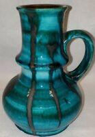 West German ceramic vase by Jopeko 1960s green drip glaze