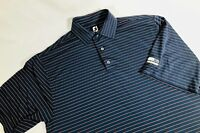 FootJoy Mens Striped Golf Polo Size Large