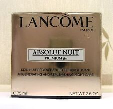 LANCOME ABSOLUE PREMIUM BX NUIT CREAM 75ML - New - BNIB - CELLOPHANE SEALED