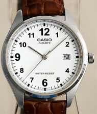 Casio Men's Analogue Quartz WATCH Date Display & Leather Band MTP-1175E-7B New