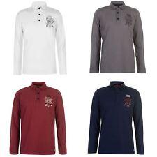 Pierre Cardin 1950 Long Sleeve Polo Shirt Mens Top Tee Casual T-Shirt