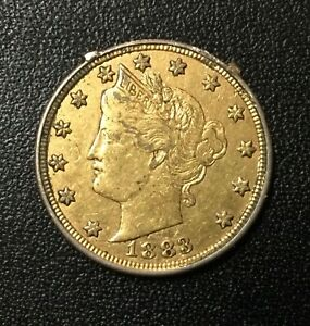 "1883 LIBERTY NICKEL ""RACKETEER"" RARE LOVE TOKEN!"