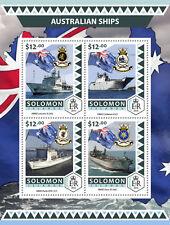 Solomon Islands 2016 MNH Australian Ships HMAS Leeuwin Perth 4v M/S Boats Stamps