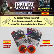 STAR WARS IMPERIAL ASSAULT 2017 TEMPORADA 1 KIT ESPAÑOL - Cartas promo + Tokens