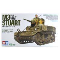 Tamiya M3 Stuart U.S. Light Tank (Late Production) Model Set (Scale 1:35) 35360