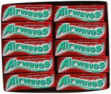 Full Box of 30 Wrigley's Chewing Gum Airwaves Sugar Free Cherry Menthol Free P&P