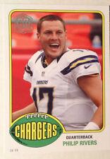 2015 Topps Philip Rivers San Diego Chargers 60th Anniversary 5x7 Jumbo xx/99