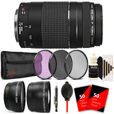 Canon EF 75-300mm f/4-5.6 III Lens + 58mm Accessory Kit for Canon 750D 760D