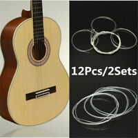 12Pcs/2Sets Acoustic Guitar Nylon Strings Wound Clear Gauge for Classic Guitar