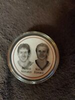 DETROIT RED WINGS PUCK FEDOROV & SHANAHAN EXC FREE SHIPPING L@@K!