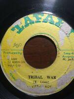 "Little Roy-Tribal War 7"" Vinyl Single 1974 ROOTS REGGAE"