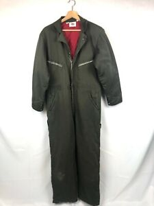 Vintage Dickies Coveralls Quilted Lining Insulated Size 40 Green