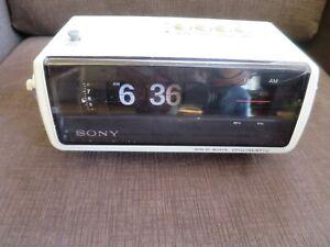 Vintage Sony Digimatic Flip Clock Radio 8FC 100Watt