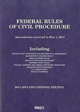 Federal Rules of Civil Procedure, 2011-2012 Educational Edition-ExLibrary