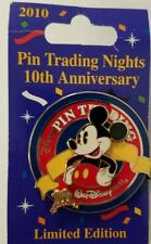 Disney Pin WDW Trading Night Pie-Eyed Mickey Mouse 10th Anniversary