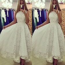 Sexy Women Lace Evening Party Ball Prom Gown Formal Cocktail Wedding Long Dress
