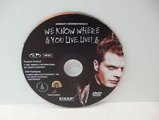 We Know Where You Live: LIVE! DVD Comedy Music Concert U2 Eddie Izzard NO CASE