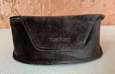Tom Ford Brown Large Dark Brown Velvet Soft Sunglass Case Magnetic Closure