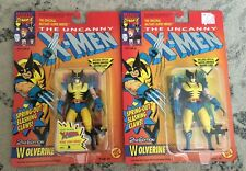 TOY BIZ MARVEL THE UNCANNY X-MEN WOLVERINE WITH SPRING OUT CLAW LOT OF (2) DIFF