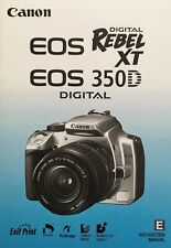 Canon EOS 350D Manual - Printed & Professionally Bound Size A5 - NEW 174 Pages