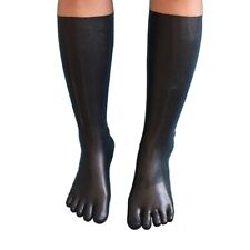 0.8mm Latex Rubber Toe Socks Fetish Black Latex Long Toes