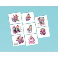 JoJo Siwa Birthday Party Tattoos-1 sheet of 8 tattoos