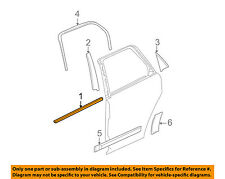 GM OEM Rear Window/Door-Belt Molding Weatherstrip Left 25791523