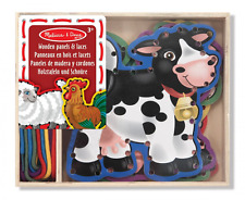 Melissa & Doug Lace and Trace Activity Set: 5 Wooden Panels and 5 Matching Laces