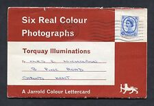 Letter Card - 6 Views of Torquay Illuminations. Posted 1965.
