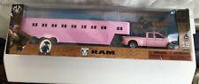 "NIB! Ram 1/32 Die-Cast Pink Truck & Horse Trailer ""Big Time Rodeo"" Western Produ"