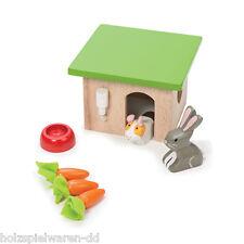 Le Toy Van ME045 Hase & Merrschweinchen Tier Set 1:12 für Puppenhaus Holz NEU! #