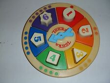 Vtg Tonka Learning Toy Numbers Shapes Colors Spinner Game