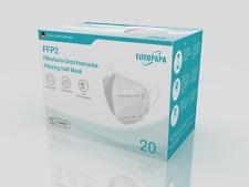 20xFFP2 Einweg-Atemschutzmaske 5-Lagig CE 2163 Prüfstelle hygi.einzelverpackung