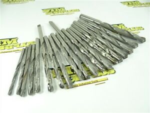 """LOT OF 9 ASSORTED CARBIDE TIPPED DRILLS 3/16"""" TO 1/2"""" PTD & MORSE"""
