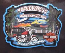 "Genuine Harley Davidson Emblem 1.5"" Dealer Pin / Space Coast / Palm Bay, Florida"