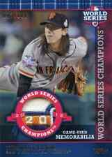 TIM LINCECUM TOPPS 2013 WORLD SERIES CHAMPIONS GAME USED JERSEY CARD 003/100