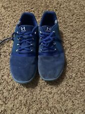 Under Armor Blue Suede Boys Tennis Shoes Size 5 Youth