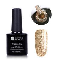 UR SUGAR Glitter Sequins UV Gel Nail Polish Holographic Soak Off Champagne Gold