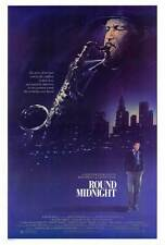 ROUND MIDNIGHT Movie POSTER 27x40 Dexter Gordon Lonette McKee Francois Cluzet
