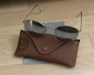 Ray Ban Round Mirrored Sunglasses RB3447